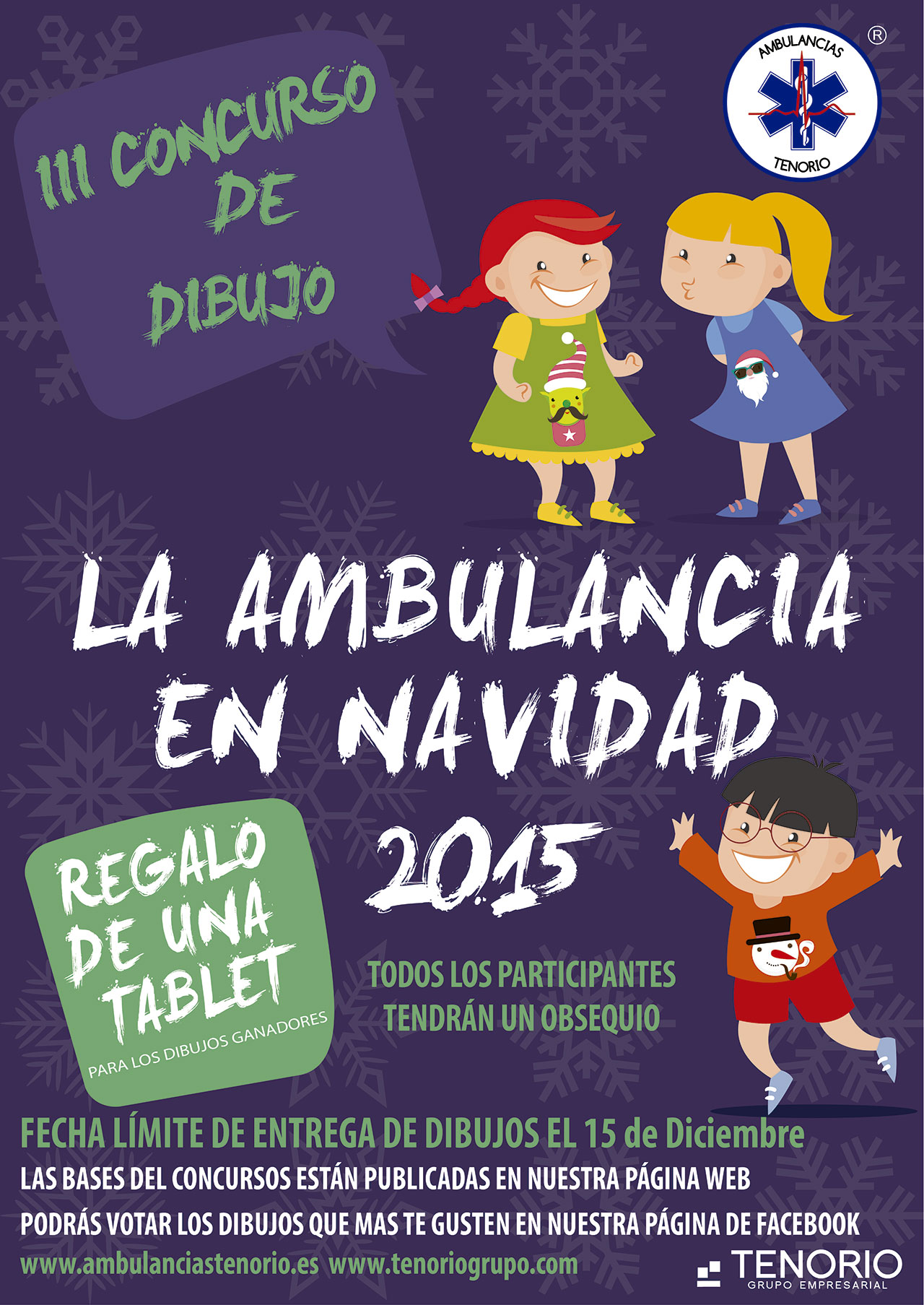 "III Concurso de Dibujo Infantil de Grupo Tenorio ""La Ambulancia en Navidad"""