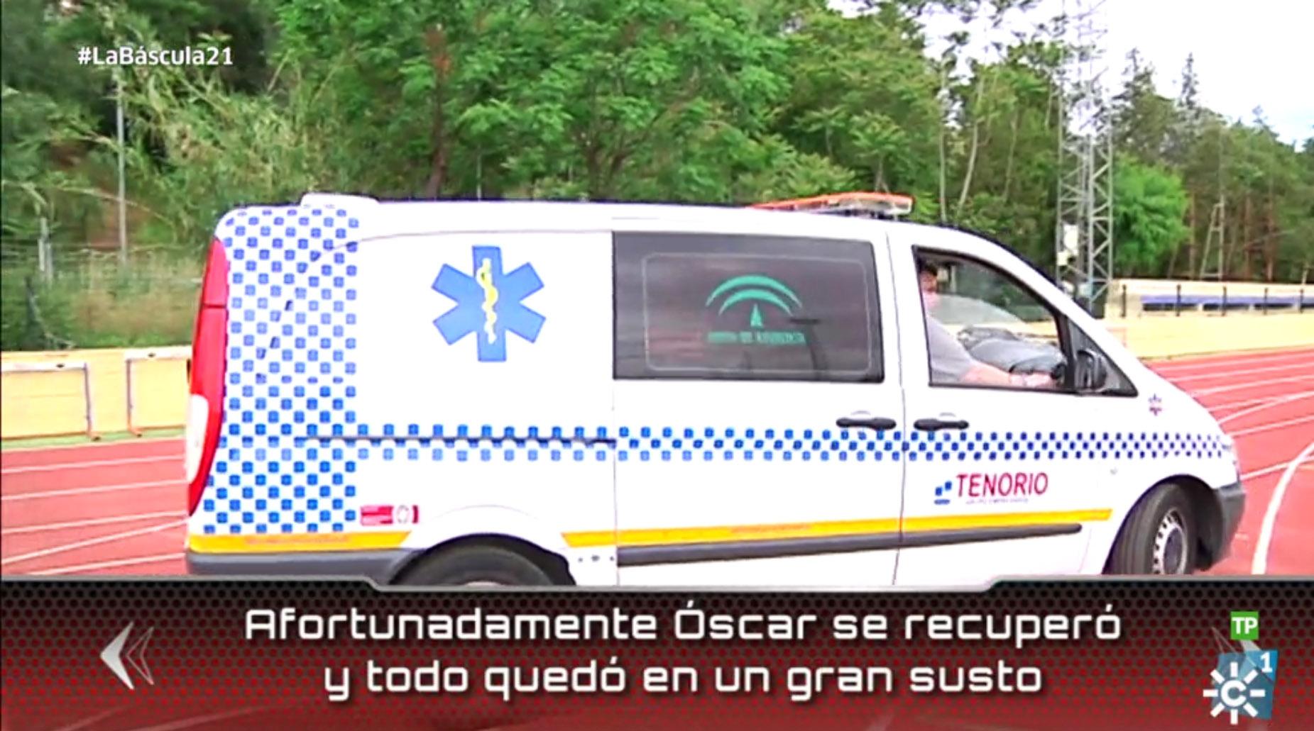 Ambulancias Tenorio en La Báscula de Canal Sur